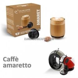 """16 CAPSULE """" ITALIAN COFFE """" COMPATIBILI DOLCE GUSTO """" CAFFE AMARETTO """""""