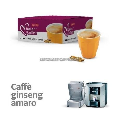 """25 capsule """"Caffe e Ginseng Amaro """" senza grassi idrogenati che Maraviglia by Ristora compatibili Lavazza Espresso Point"""