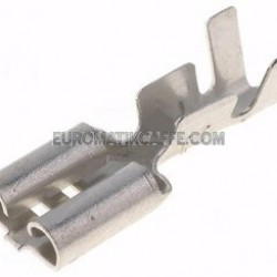 FASTON FEMMINA A CRIMPARE 6,3X0,8MM IN OTTONE STAGNATO X 25 PZ