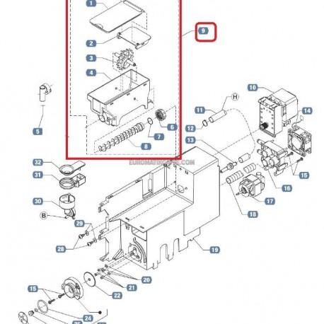 CONTENITORE COCLEA NORMALE COMPLETO - LB 2500 PLUS - EP 2500 PLUS