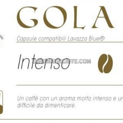 "CAFFE ""GOLA "" INTENSO - CAPSULE COMPATIBILI LAVAZZA BLUE E IN BLACK"