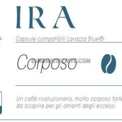 "CAFFE ""IRA "" CORPOSO - CAPSULE COMPATIBILI LAVAZZA BLUE E IN BLACK"