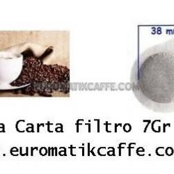 600 CIALDE CAFFE CARTA FILTRO 38mm EUROMATIK MISCELA CREMA