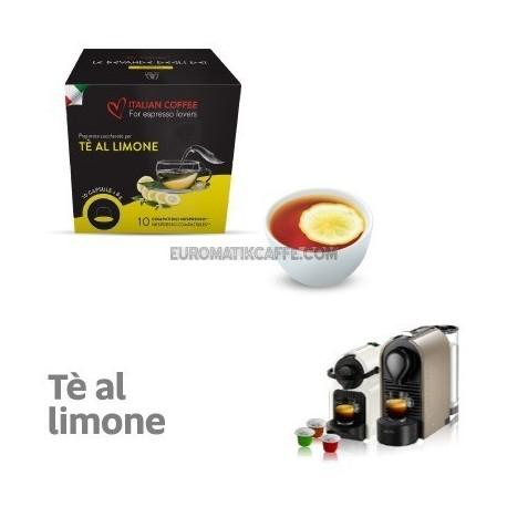 """10 CAPSULE THE LIMONE COMPATIBILI NESPRESSO """"ITALIAN COFFEE"""""""