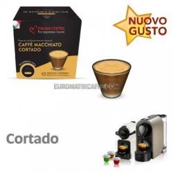 """10 CAPSULE CAFFE MACCHIATO CORTALDO COMPATIBILI NESPRESSO """"ITALIAN COFFE"""""""