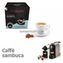 """10 CAPSULE CAFFE AL GUSTO DI SAMBUCA COMPATIBILI NESPRESSO """"ITALIAN COFFE"""""""