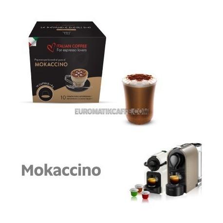 """10 CAPSULE MOKACCINO COMPATIBILI NESPRESSO """"ITALIAN COFFE"""""""