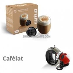 """16 CAPSULE """" ITALIAN COFFEE """" COMPATIBILI DOLCE GUSTO """" CAFFELATTE """""""