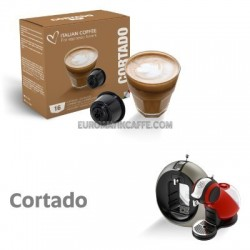 """16 CAPSULE """" ITALIAN COFFE """" COMPATIBILI DOLCE GUSTO """" CAFFE MACCHIATO - CORTADO """""""