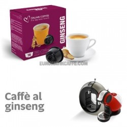 "16 CAPSULE "" ITALIAN COFFE "" COMPATIBILI DOLCE GUSTO "" GINSENG MALESE """