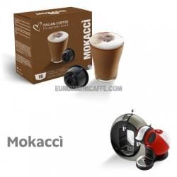 """16 CAPSULE """" ITALIAN COFFE """" COMPATIBILI DOLCE GUSTO """" MOKACCINO """""""