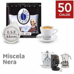 50 CIALDE ESE 44mm BORBONE MISCELA NERA